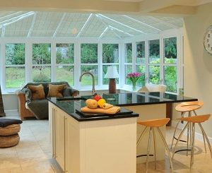 Bespoke Kitchen in a UPVC Conservatory